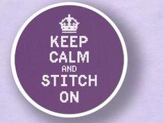 Keep Calm and Stitch On. Text Cross Stitch PDF by andwabisabi, $5.00