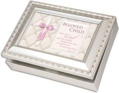 Jewelry Music Boxes - Cottage Garden Beloved Child Religious Silver Music Musical Jewelry Box Plays Jesus Loves Me * Check out the image by visiting the link.
