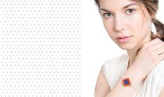 """Bracelet """"Les Losanges"""", cuir et textile"""
