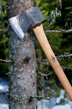 a Swedish Gränsfors American Felling Axe, pictured in Norwegian Wood. Photograph: Lars Mytting/PR 'Armchair woodchoppers' make DIY timber guide surprise bestseller