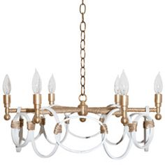 Ro Sham Beaux Claire White Chandelier RSBCLAIRE