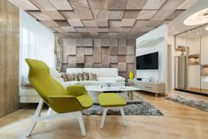 Discover all the information about the product Canvas stretch ceiling / acoustic / decorative / water-repellent EFFET BOIS® - BARRISOL and find where you can buy it. Interior Architecture, Interior And Exterior, Interior Design, Barrisol Ceiling, Fabric Ceiling, Architectural Materials, Popcorn Ceiling, Ceiling Installation, Decoration