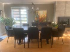 TABLE ORLÉANS - MERISIER - BRUNE CLAIRE - 84'' X 42'' X 3'' ÉPAIS - CHAISES BLOOM - CHAISES DIXON #lusine #table #orleans #merisier #bruneclaire #chaise #bloom #dixon