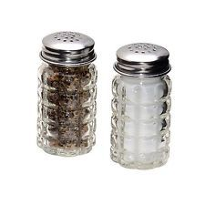 Retro Style Salt and Pepper Shakers with Stainless Tops (2) 2