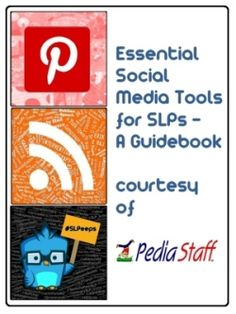 Free E-Book: Essential Social Media Tools for SLPs – Blog Hop Style! - Pinned by @PediaStaff – Please Visit http://ht.ly/63sNt for all our pediatric therapy pins