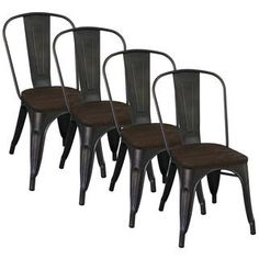 Tabouret Vintage Wood Seat Bistro Chair  | Overstock.com Shopping - The Best Deals on Dining Chairs