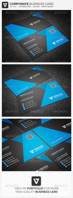 Modern & Stylish Business Card 34 - Corporate #Business #Cards Download here: https://graphicriver.net/item/modern-stylish-business-card-34/7649398?ref=alena994