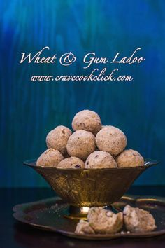 Wheat and Gum Ladoo Recipe #indiandesserts, #sweets, #ladoos, #indianrecipes, #healthyrecipes, #wheatflour, #jaggery, #easyrecipes #healthysweets