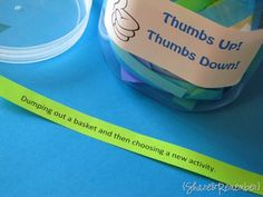 Thumbs Up! Thumbs Down! Teaching appropriate behaviour