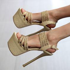 Gold Bullion Metal Salt Sandals Jamaica Resorts Stiletto Bohemian High Heels…