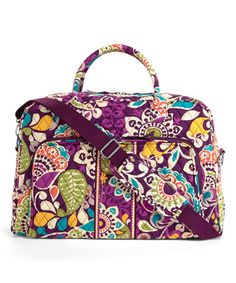 Look at this #zulilyfind! Vera Bradley Plum Crazy Weekender Bag for $54.99 --an out of production pattern that I absolutely LOVE #zulilyfinds