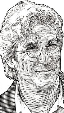 Wall Street Journal portrait (hedcut) of Richard Gere