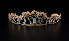Tiara of horn and moonstone made by FJ Partridge for Liberty & Co, England, c.1900.