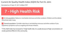 #Poor air quality rating in Fort St. John due to forest fire smoke - Energeticcity.ca: Energeticcity.ca Poor air quality rating in Fort St.…