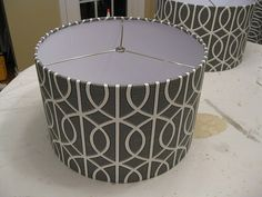 DIY how to cover a lamp shade with fabric. This is seriously so easy, even I could do this.