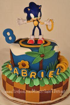 Marvelous Photo of Sonic Birthday Cake . Sonic Birthday Cake Sonic The Hedgehog Cake Decorating Community Cakes Bake Pictures Sonic Birthday Cake, Sonic Birthday Parties, Sonic Party, Birthday Cake Toppers, Boy Birthday, Birthday Cakes, Birthday Ideas, Bolo Sonic, Sonic Cake