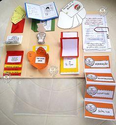 Idea de lapbook que irán construyendo los niños con el vocabulario de cada UD