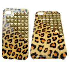 Cheetah and Studded iPhone Case.
