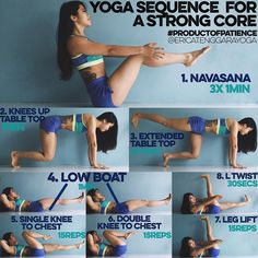 YOGA SEQUENCE FOR A STRONG CORE: These moves are fairly simple but when done…