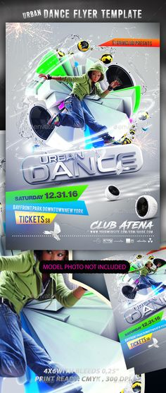 #Urban #Dance #Flyer Template - Events Flyers Download here: https://graphicriver.net/item/urban-dance-flyer-template/17285151?ref=alena994