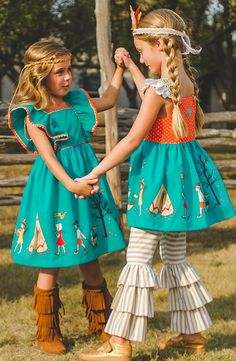 Perfect coordinating girls' dresses, tops, and bottoms in the Eleanor Rose Thanksgiving Day Parade collection!