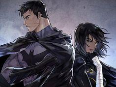 Bruce Wayne(Batman) and Cassandra Cain(Batgirl)