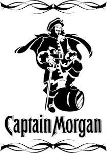 Logo of Captain Morgan Cooler Designs, Decorated Wine Glasses, Harley Davidson Logo, Wood Burning Crafts, Captain Morgan, Record Art, Vinyl Designs, Shirt Designs, Cup Design