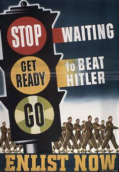 This is a Canadian propaganda poster from the World War II time period. These were posters that were shown to people to try to get them to go to war. This changed Canadian lives because, some people would go to war and listen to the propaganda posters. Vintage Ads, Vintage Posters, Ww2 Propaganda Posters, History Posters, Poster Ads, Old Ads, World War Two, Wwii, Just In Case