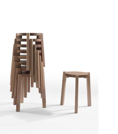 'Solid' stacking timber stool by Alexander Lotersztain / Derlot for the One / Third collaboration, launching this week in Melbourne.