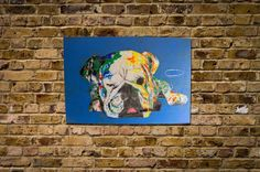 """Title """"Smoking Bulldog""""original spray paint art Available  more information Please mail to info@spray-art.jp for purchase and information."""