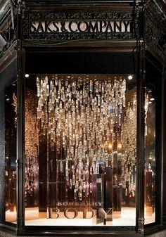 Burberry Body window display at Saks Fifth Avenue, New York