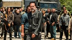 Of the Best Villain nominees at the 2017 MTV Movie and TV Awards, a whopping voted for Jeffrey Dean Morgan's Negan ('The Walking Dead'). The Walking Dead Merchandise, Walking Dead Season 8, Sonequa Martin Green, Poll Results, Best Villains, Sci Fi Series, Jeffrey Dean Morgan, Get Shot, Great Films