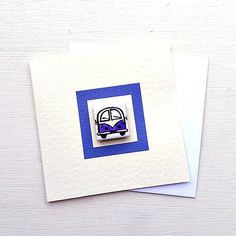 Campervan Card Purple, Combi, Splitscreen, VW, Birthday Card, Greeting Card, Blank Card, Magnet Card, Childrens Card Cellophane Wrap, Plastic Waste, Blank Cards, Campervan, Girl Gifts, More Fun, Birthday Cards, Cool Designs, Recycling