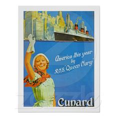 """America this Year by R.M.S. """"Queen Mary"""""""