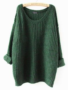 Knit sweater with oversized look. Made with a blend of cotton, wool & cashmere, a little over 3/4 quarter sleeves. Onesize fits most, fits best on XSmall, Small, Medium. Measures: Bust 41inches, Lengt                                                                                                                                                                                 More