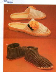 Les comparto revista de pantuflas para dama y caballero