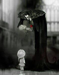 Een roos voor een klein meisje..