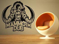 Wall Room Decor Art Vinyl Sticker Mural Decal Mammoth Elephant Big Large AS964