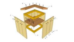 This diy step by step article is about wooden planter plans free. We show you how to build a wood planter like a professional, using common tools and materials. Diy Wooden Planters, Deck Planters, Wood Planter Box, Flower Planters, Wooden Diy, Planter Bench, Planter Ideas, Garden Projects, Wood Projects