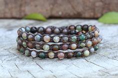 Hey, I found this really awesome Etsy listing at https://www.etsy.com/listing/92279099/fancy-jasper-wrap-bracelet