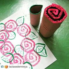 Oh my goodness, how cute is this! We could use this idea to explore spring and decorate a Thx so much for sharing, ! Hobbies And Crafts, Diy And Crafts, Arts And Crafts, Paper Crafts, Earth Day Crafts, Math Tutor, Mothers Day Crafts, Creative Teaching, Recycled Art