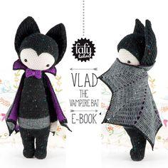 VLAD the vampire bat - lalylala amigurumi crochet PATTERN - ebook by lalylala on Etsy https://www.etsy.com/listing/209200798/vlad-the-vampire-bat-lalylala-amigurumi
