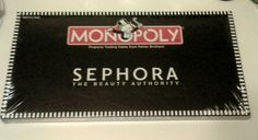 Sephora has teamed up with MONOPOLY to create a beauty-full edition of the classic game where you - GO TO JAIL for bad hair days, ADVANCE TO GO for winning a shopping spree, and pay for your products with Beauty Bucks. It's every beauty enthusiast's favorite pastime!  Buy, sell all the beauty-full products that make Sephora successful as you vie to own the Sephora empire. Stock your stores with beauty products and hire store directors and specialists, while ensuring that your store ha...