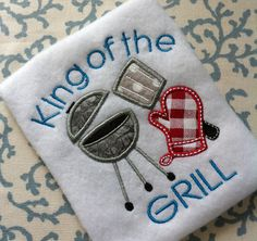 Fathers Day Applique Design Dad Daddy Pattern Embroidery Summer Picnic Grill INSTANT DOWNLOAD Spring Digital File Chef Cooking Hoops King