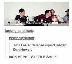 Phil Lester defence squad leader: Dan Howell