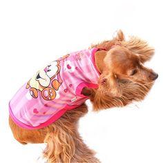 Camiseta Coleção Verão Cachorro Feliz Rosa Mascote - MeuAmigoPet.com.br #petshop #cachorro #cão #meuamigopet