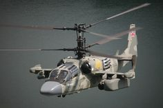 """Russia's Ka-52 """"Alligator"""" Scout / Attack Co-axial Helicopter."""