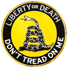 Open Road Brands Don't Tread on Me Embossed Die-Cut Tin Sign