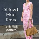Striped Maxi Dress with free pattern - sew a maxi dress for women - 30 Days of Sundresses - Melly Sews