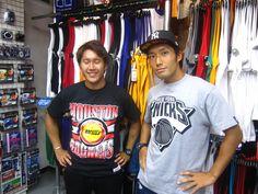 【新宿2号店】2014.07.10 ロケッツとニックスのTシャツ、バッチリキマってます☆またいつでも遊びに来てくださいね~(^o^)v